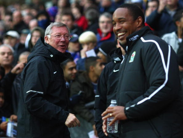 Sir Alex Ferguson og Paul Ince.