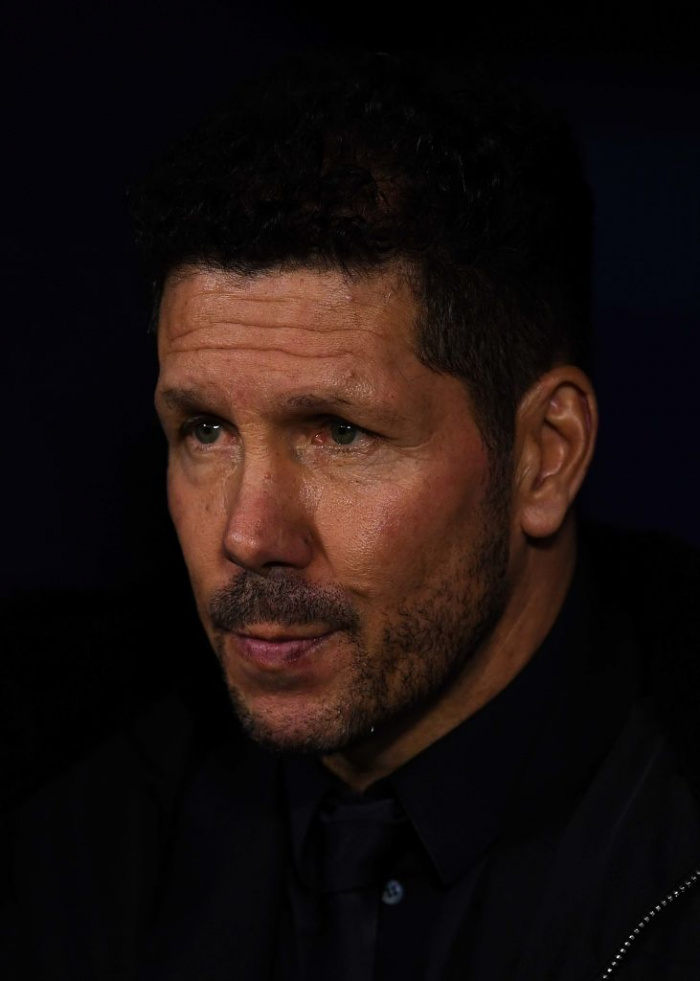 Diego Simeone þjálfari Atletico Madrid.