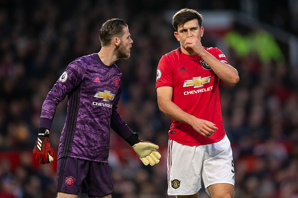 David de Gea og Harry Maguire.